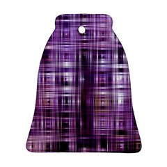 Purple Wave Abstract Background Shades Of Purple Tightly Woven Bell Ornament (two Sides)