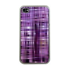 Purple Wave Abstract Background Shades Of Purple Tightly Woven Apple iPhone 4 Case (Clear)