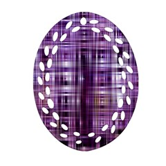 Purple Wave Abstract Background Shades Of Purple Tightly Woven Ornament (Oval Filigree)
