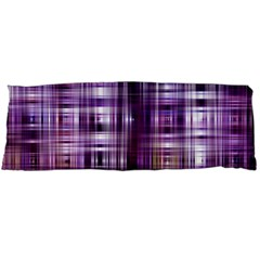 Purple Wave Abstract Background Shades Of Purple Tightly Woven Body Pillow Case (dakimakura)