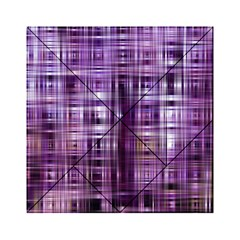 Purple Wave Abstract Background Shades Of Purple Tightly Woven Acrylic Tangram Puzzle (6  x 6 )