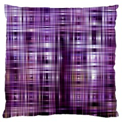 Purple Wave Abstract Background Shades Of Purple Tightly Woven Large Cushion Case (Two Sides)