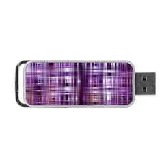Purple Wave Abstract Background Shades Of Purple Tightly Woven Portable USB Flash (Two Sides)