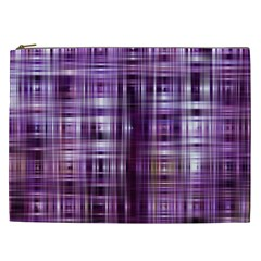 Purple Wave Abstract Background Shades Of Purple Tightly Woven Cosmetic Bag (XXL)
