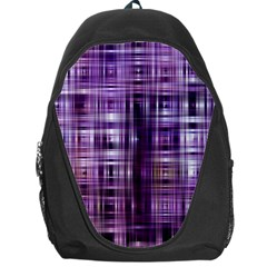 Purple Wave Abstract Background Shades Of Purple Tightly Woven Backpack Bag