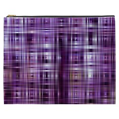 Purple Wave Abstract Background Shades Of Purple Tightly Woven Cosmetic Bag (XXXL)