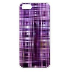 Purple Wave Abstract Background Shades Of Purple Tightly Woven Apple Iphone 5 Seamless Case (white)