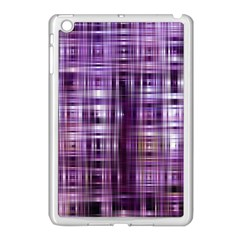 Purple Wave Abstract Background Shades Of Purple Tightly Woven Apple iPad Mini Case (White)