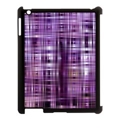 Purple Wave Abstract Background Shades Of Purple Tightly Woven Apple iPad 3/4 Case (Black)