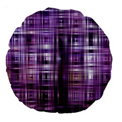 Purple Wave Abstract Background Shades Of Purple Tightly Woven Large 18  Premium Round Cushions