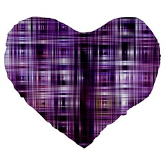 Purple Wave Abstract Background Shades Of Purple Tightly Woven Large 19  Premium Heart Shape Cushions