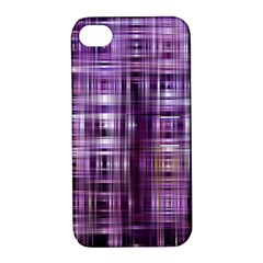 Purple Wave Abstract Background Shades Of Purple Tightly Woven Apple iPhone 4/4S Hardshell Case with Stand