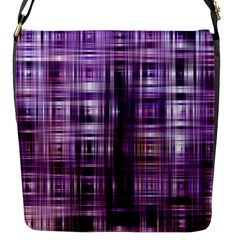 Purple Wave Abstract Background Shades Of Purple Tightly Woven Flap Messenger Bag (S)