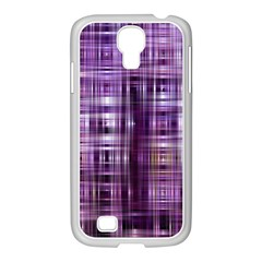 Purple Wave Abstract Background Shades Of Purple Tightly Woven Samsung Galaxy S4 I9500/ I9505 Case (white)
