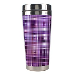 Purple Wave Abstract Background Shades Of Purple Tightly Woven Stainless Steel Travel Tumblers