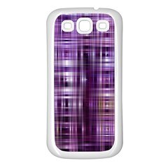 Purple Wave Abstract Background Shades Of Purple Tightly Woven Samsung Galaxy S3 Back Case (white)