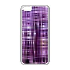Purple Wave Abstract Background Shades Of Purple Tightly Woven Apple Iphone 5c Seamless Case (white)