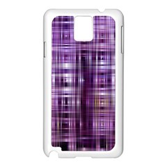 Purple Wave Abstract Background Shades Of Purple Tightly Woven Samsung Galaxy Note 3 N9005 Case (White)