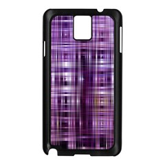 Purple Wave Abstract Background Shades Of Purple Tightly Woven Samsung Galaxy Note 3 N9005 Case (Black)