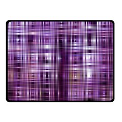 Purple Wave Abstract Background Shades Of Purple Tightly Woven Double Sided Fleece Blanket (Small)