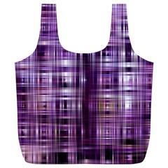 Purple Wave Abstract Background Shades Of Purple Tightly Woven Full Print Recycle Bags (l)