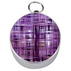 Purple Wave Abstract Background Shades Of Purple Tightly Woven Silver Compasses