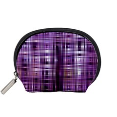 Purple Wave Abstract Background Shades Of Purple Tightly Woven Accessory Pouches (Small)