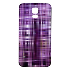 Purple Wave Abstract Background Shades Of Purple Tightly Woven Samsung Galaxy S5 Back Case (White)