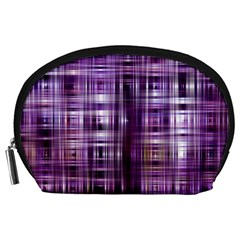 Purple Wave Abstract Background Shades Of Purple Tightly Woven Accessory Pouches (Large)