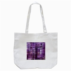Purple Wave Abstract Background Shades Of Purple Tightly Woven Tote Bag (White)