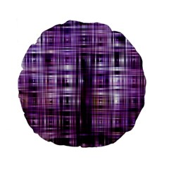Purple Wave Abstract Background Shades Of Purple Tightly Woven Standard 15  Premium Flano Round Cushions