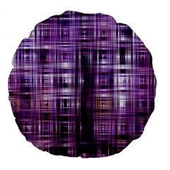 Purple Wave Abstract Background Shades Of Purple Tightly Woven Large 18  Premium Flano Round Cushions