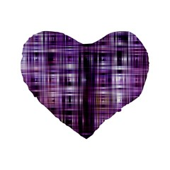 Purple Wave Abstract Background Shades Of Purple Tightly Woven Standard 16  Premium Flano Heart Shape Cushions