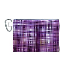 Purple Wave Abstract Background Shades Of Purple Tightly Woven Canvas Cosmetic Bag (M)