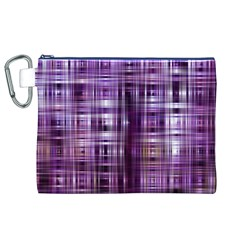 Purple Wave Abstract Background Shades Of Purple Tightly Woven Canvas Cosmetic Bag (XL)