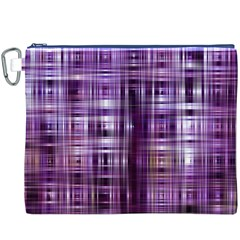 Purple Wave Abstract Background Shades Of Purple Tightly Woven Canvas Cosmetic Bag (XXXL)
