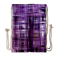 Purple Wave Abstract Background Shades Of Purple Tightly Woven Drawstring Bag (large)