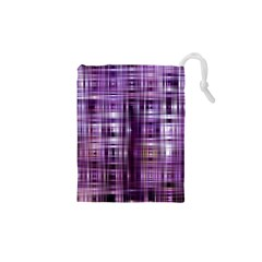 Purple Wave Abstract Background Shades Of Purple Tightly Woven Drawstring Pouches (xs)