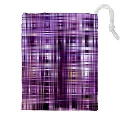 Purple Wave Abstract Background Shades Of Purple Tightly Woven Drawstring Pouches (XXL)