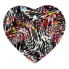 Abstract Composition Digital Processing Ornament (heart)