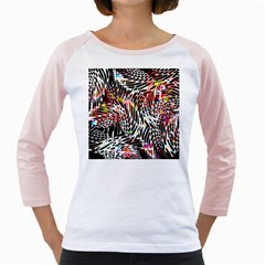 Abstract Composition Digital Processing Girly Raglans