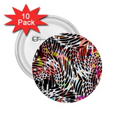 Abstract Composition Digital Processing 2.25  Buttons (10 pack)