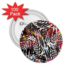 Abstract Composition Digital Processing 2.25  Buttons (100 pack)