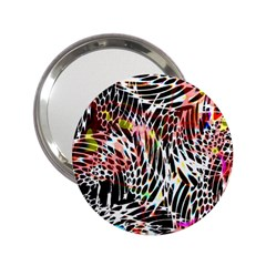 Abstract Composition Digital Processing 2.25  Handbag Mirrors