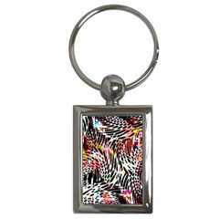 Abstract Composition Digital Processing Key Chains (Rectangle)