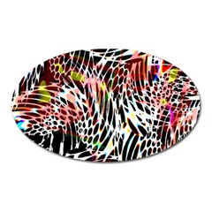Abstract Composition Digital Processing Oval Magnet