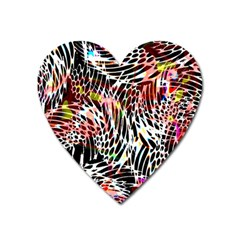 Abstract Composition Digital Processing Heart Magnet