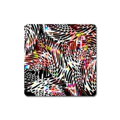 Abstract Composition Digital Processing Square Magnet