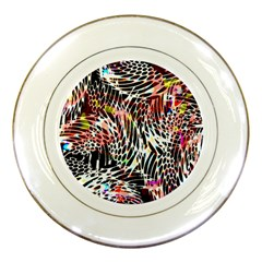 Abstract Composition Digital Processing Porcelain Plates