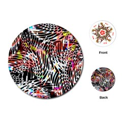 Abstract Composition Digital Processing Playing Cards (round)